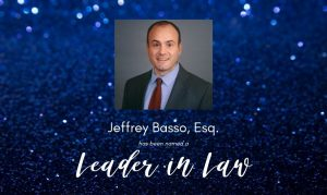 "Basso to Be Honored as a ""Leader in Law"""