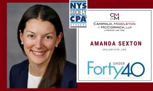 """NYSSCPA Recognizes CMM Controller Amanda Sexton with Inaugural """"40 Under 40"""" Award"""