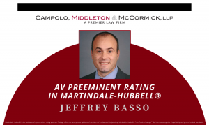 CMM Partner Jeffrey Basso Earns AV Preeminent® Rating from Peers for Ethical Standards and Legal Ability