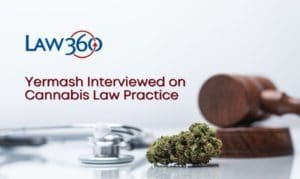 Yermash Interviewed by Law360 on CMM's Cannabis Law Practice